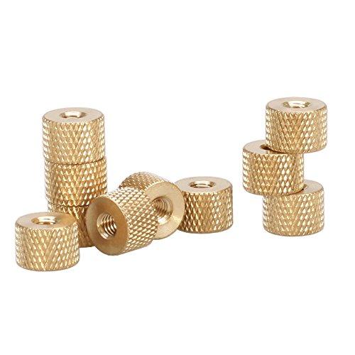 M3 Brass Thumb Nut,Brass Knurled Nut,Pack 10 pcs