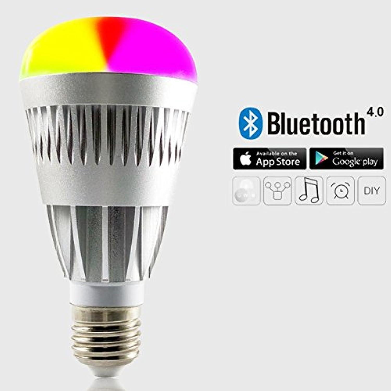 CAIDENGUAN Energiesparlampe Intelligente Blautooth Fernbedienung RGBW High-Power 10W Bunte Farbe Handy Blautooth Steuerung LED-Leuchten