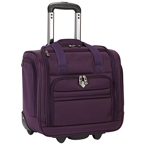 Travelers Club 16' Under Seat Carry-On, Purple, 16 Inch