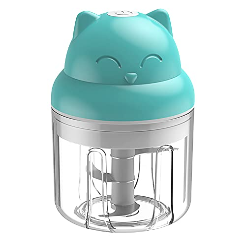 EUBSWA Picadora Eléctrica, 250ml Mini Procesador de Alimentos, Sin BPA, Funcionamiento Inalámbrico...