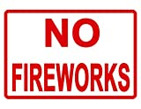 No Fireworks Iron Painting Metal Plate Personality Warning Tin Sign Vintage Home Yard Bar Wall Decor 12' X 8'