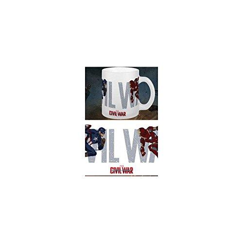 Sémic - 124 - Gobelet - Captain America - Civil War - Running to battle - Marvel