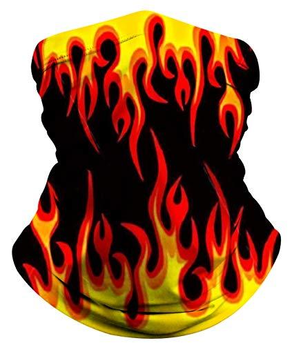 Idgreatim Männer Damen Halstuch Halbgesicht Bandana Neuheit 3D Grafik Tier Nahtlose Gesichtsbedeckung Sonnenwindsichere Staubrohrhalsmanschette für Motorradfahren Motorrad Biker Angeln Radfahren