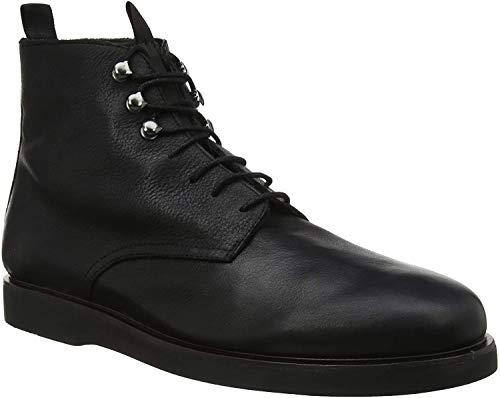 H by Hudson Herren Battle Leather Combat Boots, Schwarz (Black 01), 44 EU