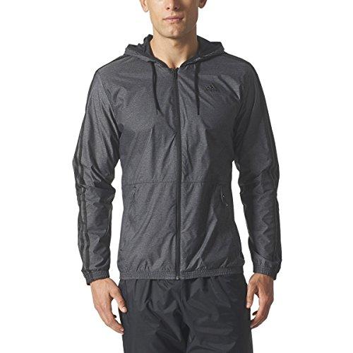 adidas Men's Basketball 365 Windbreaker Jacket, Utility Black, 4X-Large