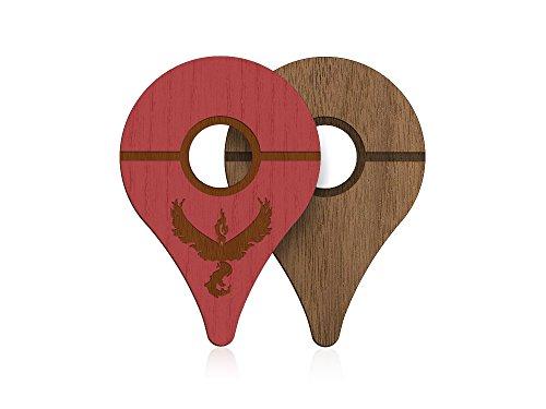 pokewares® Shield para Pokemon Go Plus | rojo | de valor real madera funda piel para Nintendo accesorios–Preorder