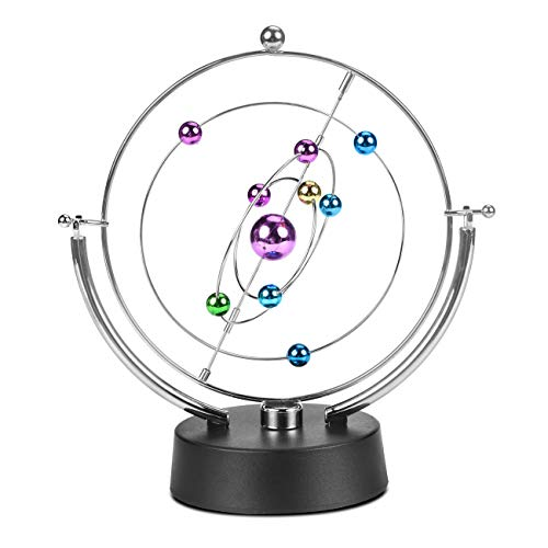 MarsGeek Solar System Planet Electronic Perpetual Motion Swing Balance Balls Office Desk Ornament Home Decoration Gift Toy