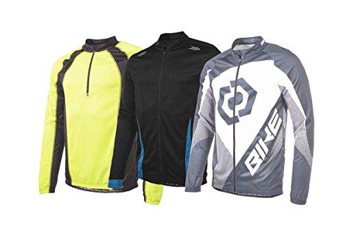 Crivit® Herren Fahrradshirt - Funktions-Langarm-Shirt - TOPCCOL®-Funktionsfaser Schwarz/Blau M 58/50