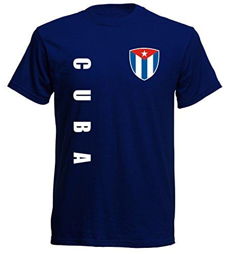 aprom Cuba Sp/A - Camiseta de fútbol azul oscuro M