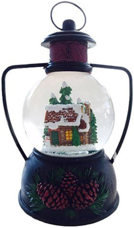 Snowy Mountain cabin LED waterball