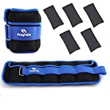 Fragraim Adjustable Ankle Weights 1-10 LBS Pair with Removable Weight for Jogging, Gymnastics, Aerobics, Physical Therapy, Resistance Training|1-5 lbs Each Pack, 2 Pack, Blue