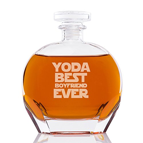 Yoda Best Boyfriend Ever Engraved Puccini Glass Decanter