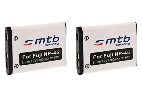 2X Akku NP-45 für FujiFilm FinePix XP50, XP60, Z10fd, Z20fd, Z30, Z31, Z33WP. (Siehe Liste)