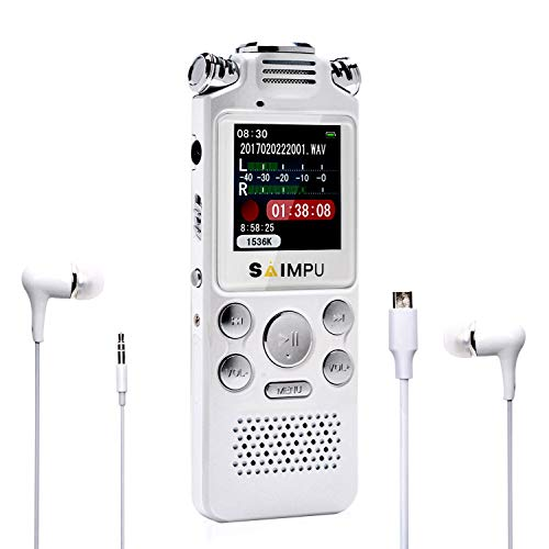 Voice Recorder-16GB Voice Activated Recorder with Variable Speed Playback,Sound Recorder Built in Ultra-Sensitive Microphones and MP3 Player,Digital Voice Recorder for Lectures and Meetings