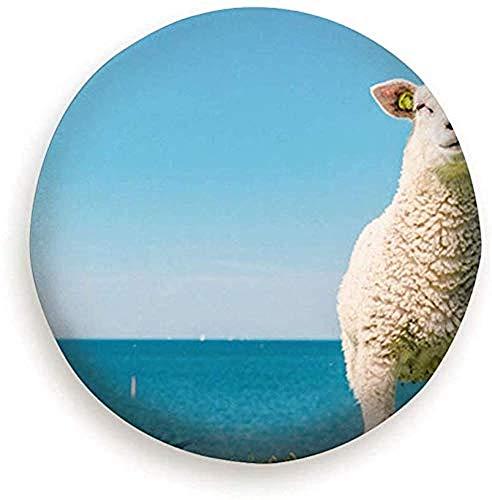 Beth-D Reserveband Cover Lammen Schapen Op Nederlandse Dijk Door Dieren Wildlife Polyester Universele Reservewiel Band Cover Wiel Covers 14-17inch