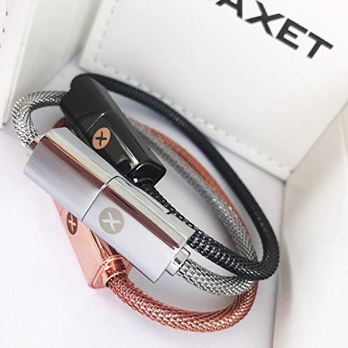 BAXET usefulness accessories Pulsera Recarga   Cable de navegación   Cable de Datos   Cable USB portátil para iPhone, Micro, TypeC   Idea de Regalo tecnológico (22cm Micro)