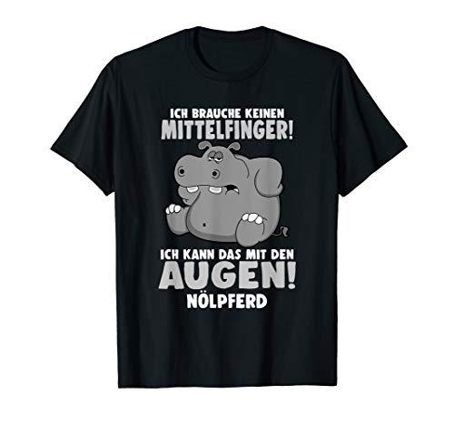Nölpferd Tier Nilpferd lustig Spruch Spüren Pillepalle T-Shirt