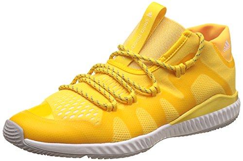 adidas Stella McCartney Crazytrain Bounce Mid Running Trainers Sneakers (UK 9 US 10.5 EU 43 1/3, Yellow White BB4899)