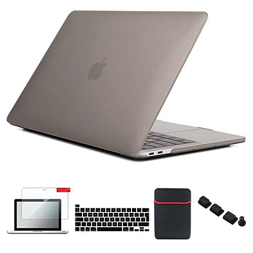 Se7enline Mac Book Pro 13 inch Case 2016-2020 Laptop Cover for MacBook Pro 13'' Model A2251/A2289/A1706/A1989/A2159 with Sleeve bag, Keyboard Skin, Screen Protector, Dust Plug, Gray
