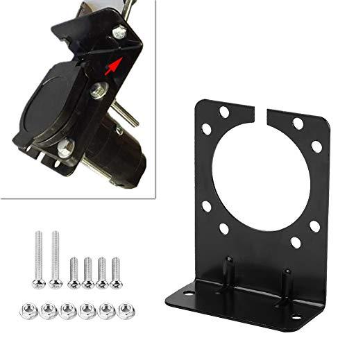 Soporte de enchufe de remolque, soporte de soporte de montaje de metal negro Pasos de instalación convenientes para el enganche de remolque de camión de automóvil para enchufe de fijación