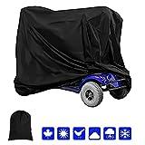 Eavy Duty Housse de protection imperméable pour scooter à 4 roues pour personnes handicapées Protection contre la pluie, la grêle, la neige, la grêle, le soleil UV (190 x 71 x 117 cm)
