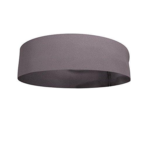 Bondi Band Flat Back Moisture Wicking 4' Headband, Gray, One Size