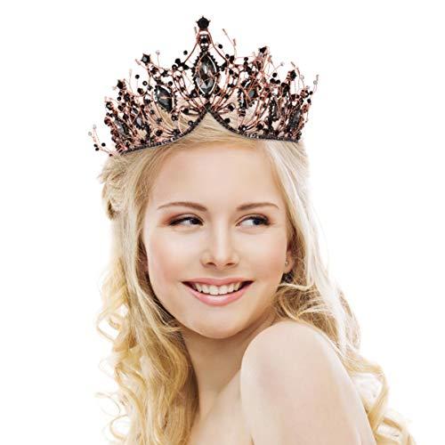 FRCOLOR Corona de Reina Barroca con Pedrería Corona de Boda con Diamantes...