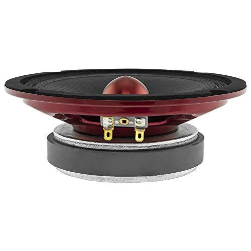 "DS18 PRO-X6.4BMSL Slim Loudspeaker - 6.5"", Midrange, Red Aluminum Bullet, 500W Max, 250W RMS, 4 Ohms - Premium Quality Audio Door Speakers for Car or Truck Stereo Sound System (1 Speaker)"