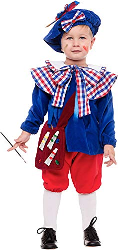 VENEZIANO Costume Carnevale da Giotto Prestige Vestito per Neonato Bambino 0-3 Anni Travestimento Halloween Cosplay Festa Party 53878 3 Anni