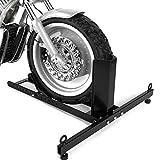 Goplus Motorcycle Wheel Chock Stand, Heavy Duty...
