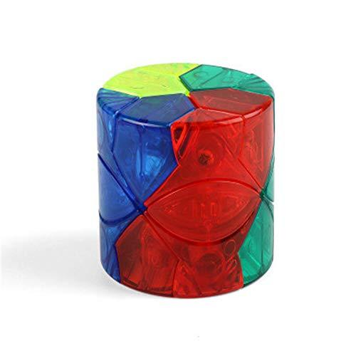 WANDE Cubo De Clase Redi Cilíndrica De Tercer Orden Cubo De Rubik Rubik, Juguetes Educativos para Los Estudiantes Adultos, En Forma De Cubo De Rubik,Transparente