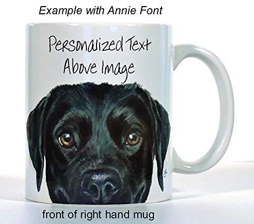 Labrador Retriever Coffee Mug, Choose Lab Color, add Custom Text