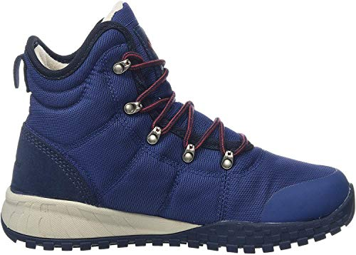 Columbia Men's Fairbanks Winter Boot, Blue Carbon Red Jas, 45