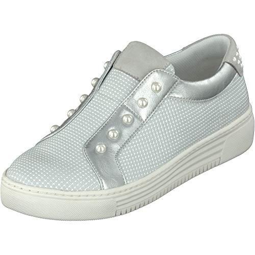 Relife Damen Schuhe Sneaker Halbschuhe Slipper 9067-18707-19 (37 EU, Silver)