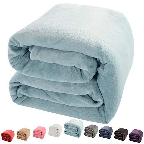 shilucheng Fleece Weich Warm Fuzzy Plüsch leicht Twin (90-inch-by-65-inch) Schlafcouch Decke, Türkis
