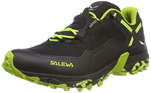 Salewa MS Speed Beat Gore-Tex, Zapatillas de Trail Running Hombre, Black out Fluo Yellow, 40.5 EU