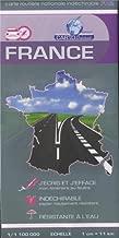France, carte routière indéchirable recto-verso : 1/1 100 000e