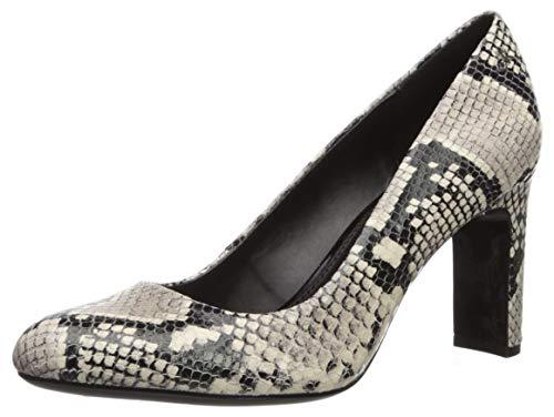 Calvin Klein Damen Octavia Pumps, Natürliche zweifarbige Schlange, 37.5 EU