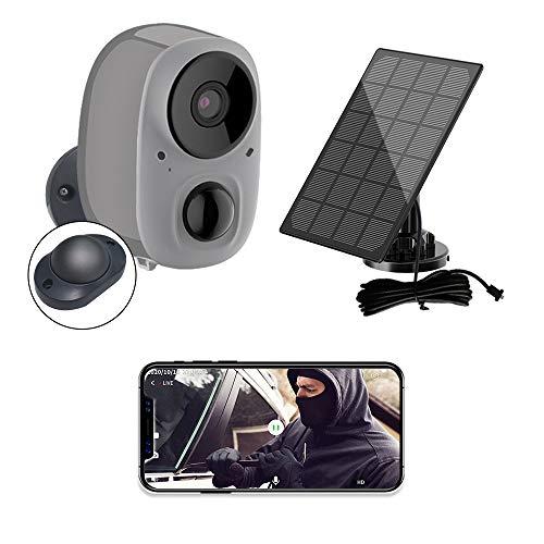 YIROKA Telecamera a Batteria Esterna Wireless con Pannello Solare, Videocamera di Sicurezza WIFI 1080P, Rilevamento AI, Audio Bidirezionale, Visione Notturna, Impermeabile IPX6, Cloud e Micro-SD