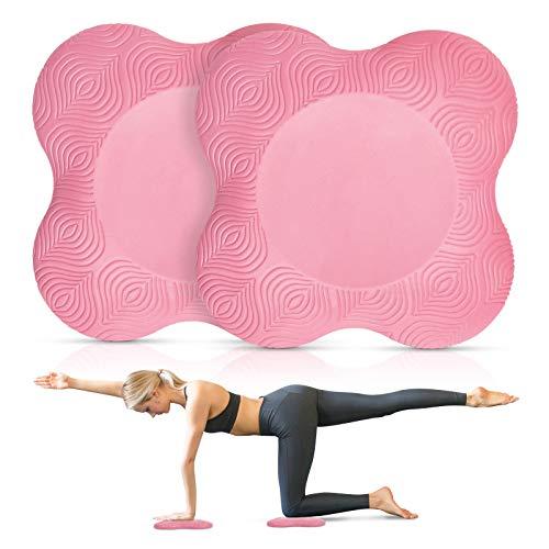 Cojín de yoga para las rodillas, esterilla de yoga, antideslizante, 2 unidades