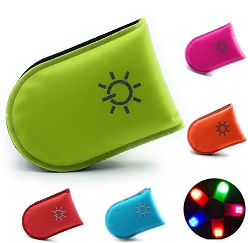 ELANOX LED Clip für hohe Sichtbarkeit bei Allen Outdoor Aktivitäten sowie für Kinder Rucksack, Sportbeutel usw. (grün)