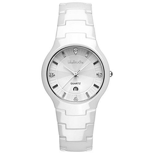 ultra dünne Keramikuhr/Damen Uhren Diamant Spiegel/Wasserdichte Quarz-Uhren-B