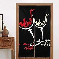 日本のれんタペストリーグラス赤白ワインドアカーテンパーティションスクリーンパネルカスタムタペストリーリネン戸口カーテン家の装飾