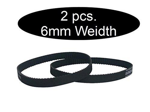 GT2 je 2 Stück je nach Größe geschlossener Zahnriemen 6mm Breit (212mm)