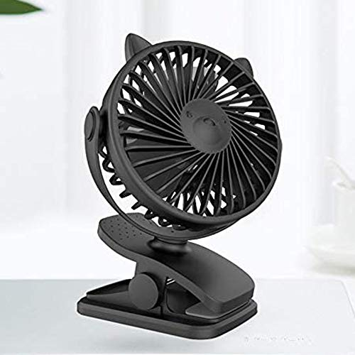 QIYUE Mini USB Fan, KEYNICE Kleine USB Clip En Desktop Fans 4 Inch 2 Speed Portable Cooling Fans Elektrische Fan Bank en stilte for Home Office Car