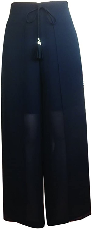 CG Chris Gelinas France CG Fashion Women's Ieisure Summer HighWaisted Gauze WideLegged Trousers 855B073