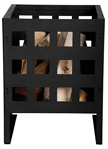 esschert Design Braséro, Design Cubique, Noir 40 cm Noir