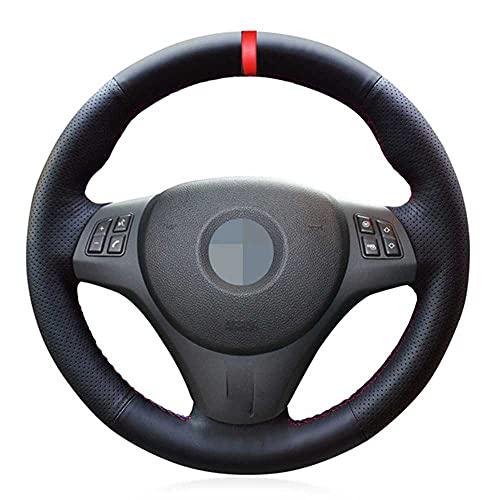 HJPOQZ Marcador Rojo de Cuero, Cubierta de Volante de Coche DIY, para BMW M Sport M3 E90 E91 E92 E93 E87 E81 E82 E88 X1 E84