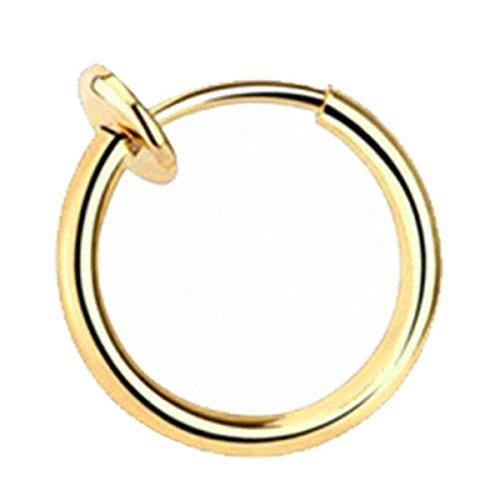 Taffstyle® Septum Nasenpiercing Klemmring Fake Ring Sping Piercing Helix Ohr Nasenring / Gold