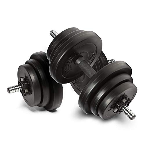 Anchor's Adjustable 20kg Dumbbells Weights set for Men Women, Dumbbell hand weight Barbell Perfect...